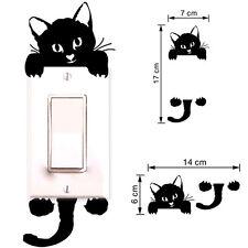 Nuovo Cat Wall Stickers luce interruttore Decor decalcomanie Art Room Adesivi