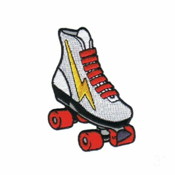 Roller Skate Applique Patch Lightning Roller Rink Roller Skating Iron on
