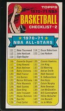 1970 TOPPS BASKETBALL CHECKLIST 2   EX/MT+  #101  UNMARKED    1517HM