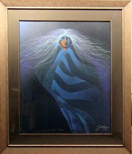 Frank-Howell-Lakota-Blue-Aura-serigraph-on-paper-Hand-Signed-Framed