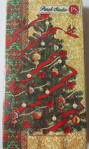 16 Punch Studio DAMASK TREE Paper Guest Hostess Napkins. Pk16. GORGEOUS