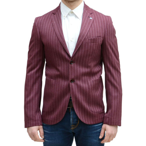 Made Giacca In Italy Tg48 Sartoriale Vincenttrade Elegante Uomo Bordeaux Casual q1qS0UFZ