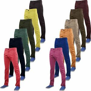 New-Mens-Chino-Trousers-100-Cotton-Pant-Straight-Leg-Slim-Fit-Jeans-Bottom
