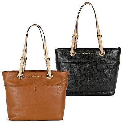 Michael Kors Bedford Leather Tote - Black / Luggage