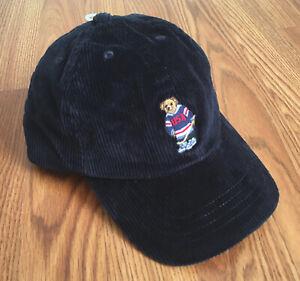 2fd58f5d7 Details about $25 NWT POLO RALPH LAUREN - Children's Hockey Bear Baseball  Cap Navy 2/2T