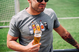 PG Wear Alcohol Football Tee grau GRY Fanatics T-Shirt NEUWARE portofrei S - XL