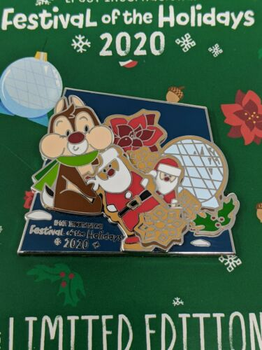 Disney Chip And Dale 2020 Epcot Festival Of The Holidays DVC LE1500 Pin