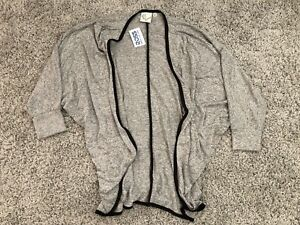 Womens-3-4-Sleeve-Cardigan-Sweater-in-Gray-US-Size-M