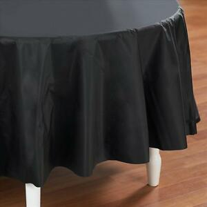 Image is loading Black-Plastic-Table-Cover-Round & Black Plastic Table Cover - Round 11179500338 | eBay