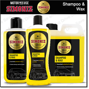 Simoniz Car Wash Wax Shampoo Streak Free Finish All Cars 2 Litre