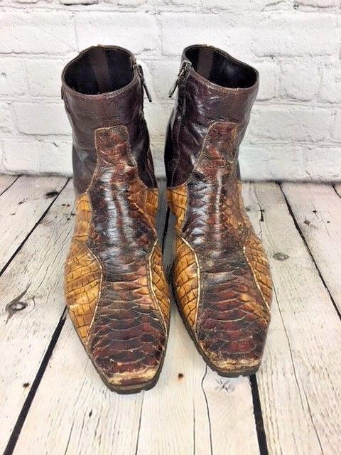 Stefano Castelli Leather Stiefel U.S. Größe 8.5 EU 41.5 Made In