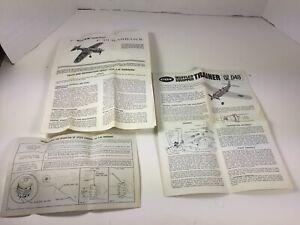 Vintage-P40-WARHAWK-COX-amp-TRAINER-QZ-049-MANUALS-INSTRUCTIONS