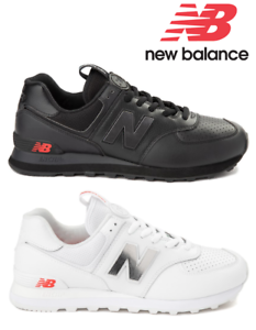 Details about Mens New Balance 574 Metal Athletic Shoes Black or White 401736 Sizes 7-13 NWB