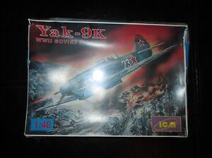 Yak-9K ww2 Soviet Fighter ICM 1:48 Model Kit 48011