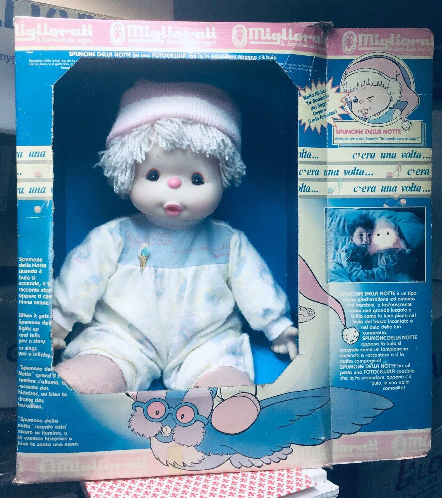 Spumone Della Notte Bambola Migliorati 1987 Doll Vintage RARO Bambolotto