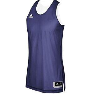 Adidas Men's Reversible Basketball Practice Jersey, Dark Blue ...