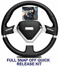 SNAP OFF QUICK RELEASE STEERING WHEEL & BOSS KIT HUB FIT VW T4 TRANSPORTER 74-95