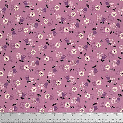 Denyse Schmidt Eastham Tulip Burst Fabric in Thistle PWDS100 100/% Cotton