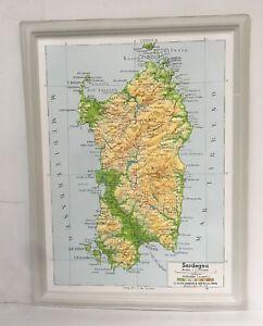 Cartina Sardegna Rilievo.Dettagli Su 88337 Cartina Geografica A Rilievo Sardegna Plastica Deagostini 1967