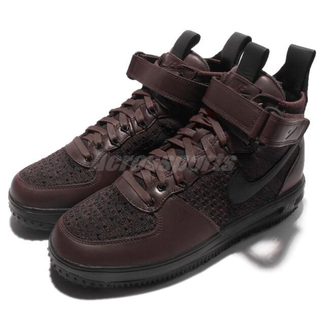 2becb6abd9ac1 Nike Lunar Force 1 Flyknit Workboot Deep Burgundy Air Men Sneakerboot  855984-600
