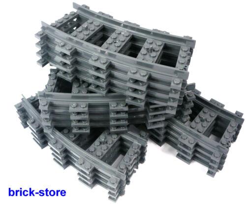 LEGO® City Eisenbahn Schienen gebogen 16 Stück 7938,7939.3677,60051,60052,60098