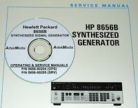 Hp Hewlett Packard 8656b Service & Operation Manuals W/schematics - 2-volumes