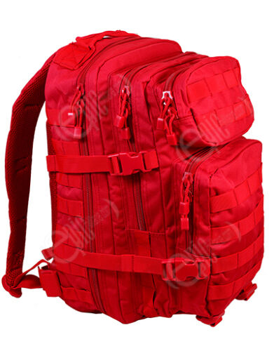 RED Molle RUCKSACK Military Assault Small 20L BACKPACK Tactical Army Day Pack