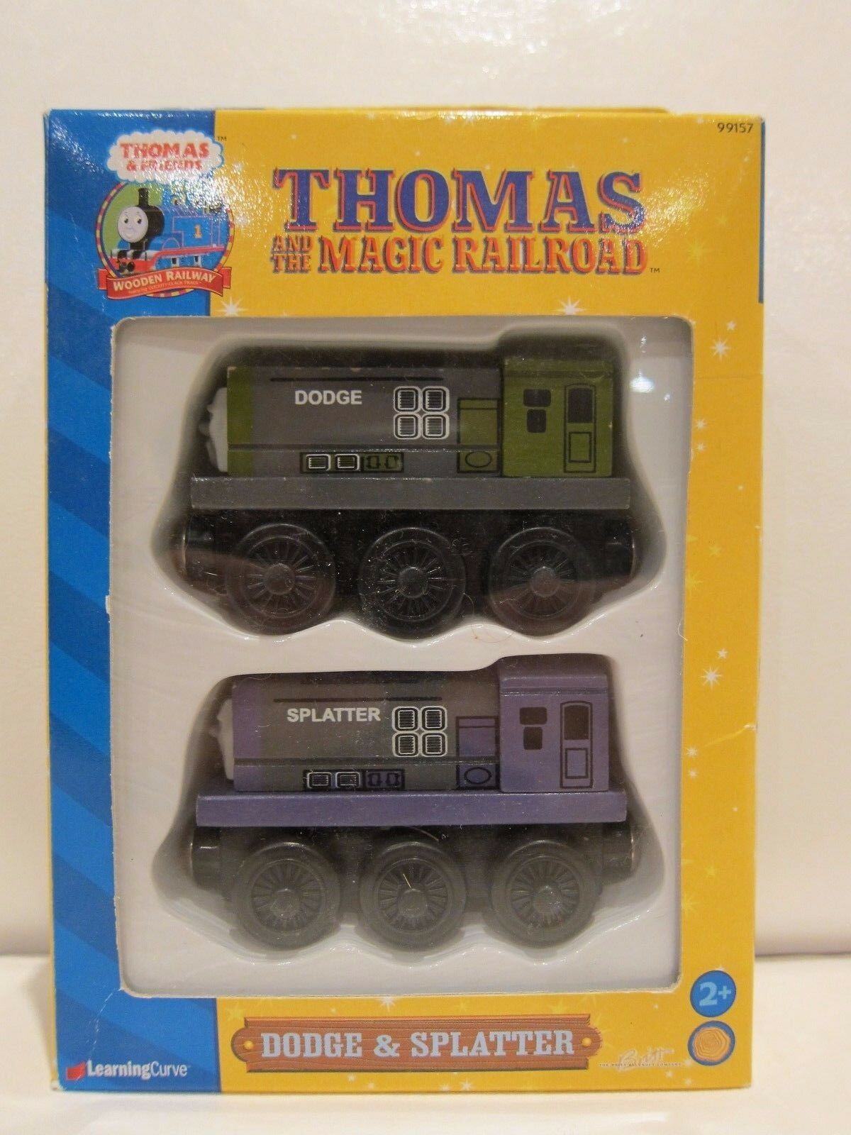 Thomas & Friends Friends Friends - Dodge & Splatter  - 2000 Learning Curve - Wood Train c103b2