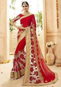 380765b14d Image is loading INDIAN-DESIGNER-BRIDAL-SAREE-PAKISTAN-BRIDAL-SAREE-WEDDING-