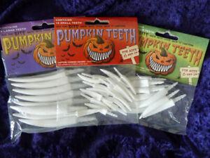3-Pack-Large-Medium-Small-Pumpkin-Teeth-Plastic-Fang-Teeth-Halloween-Original