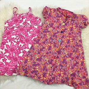 Hanna-Andersson-LOT-of-2-girls-Dresses-pink-floral-Size-100-4T