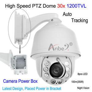 ANBER-1200TVL-Auto-Tracking-High-Speed-30x-Zoom-PTZ-DOME-Camera-CCTV-POWER-BOX