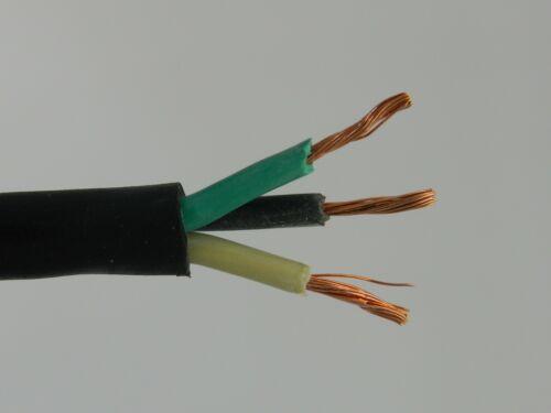 50 ft 18//3 SJOOW SJ SJO Black Rubber Cord Outdoor Flexible Wire//Cable
