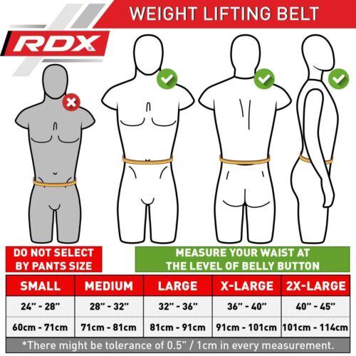 RDX Fitness Gewichthebergürtel  Gym Bodybuilding Trainingsgürtel AT