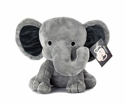 Room Decor Measures 9 Inches Girls Newborn Boys Gifts for Nursery KINREX Stuffed Elephant Animal Plush Toy for Baby Bed Pink