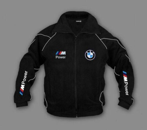Details BMW EMBROIDERED Power title original NEW Mens M about show Jacket Black Size S XXXL Fleece Jacket IWDH29E