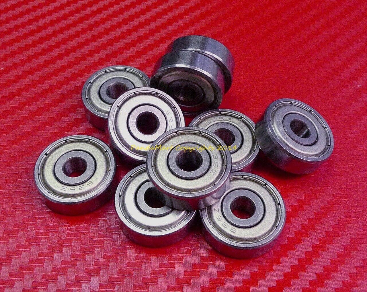 Doppel Metall Geschirmt Kugellager 0.5cm X 1cm X 0.3cm 10 Stück R166zz