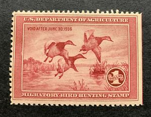WTDstamps-RW2-1935-US-Federal-Duck-Stamp-Mint-H