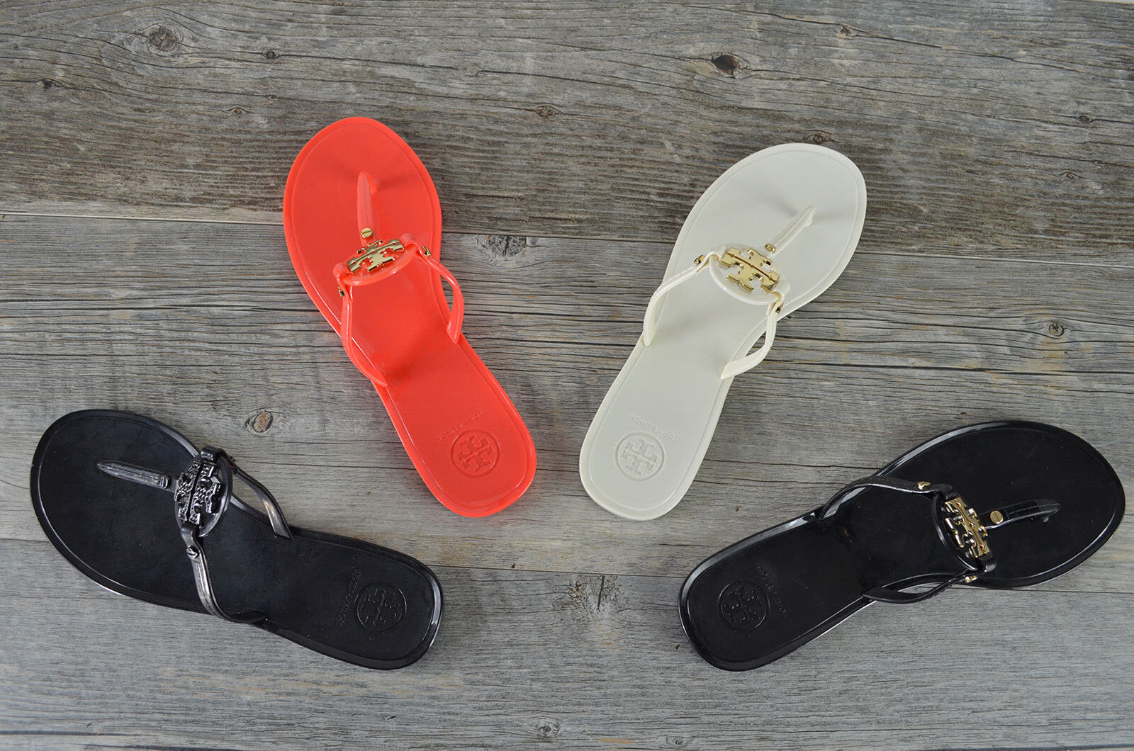 NEW Tory Burch MINI MILLER Jelly Thong Sandals 7-8