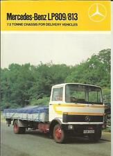 MERCEDES BENZ LP809/813 7.5 TONNE DELIVERY VEHICLES TRUCK LORRY BROCHURE 1983