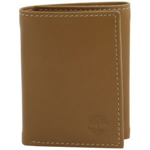 Timberland-Men-039-s-Cloudy-Genuine-Leather-Tri-Fold-Wallet