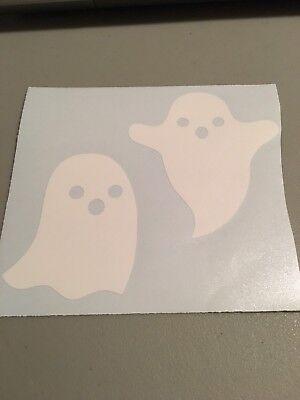 Set Of Ghost Vinyl Die Cut Decal,funny,halloween,fall,truck,car,trailer,october