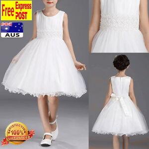 White-Tulle-Flower-Girl-Dress-Wedding-Birthday-Party-Girls-Dress-Size-2-to-10