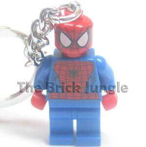 Lego Spiderman minifig keyring / keychain from Marvel / DC superheroes comics