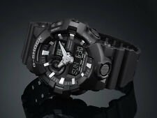 NEW Casio G-SHOCK GA700-1B Super Illuminator 3D Ana-Digital Men's Watch | BLACK