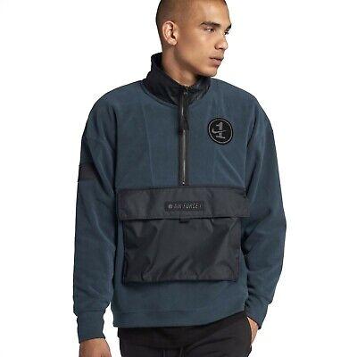 Nike Sportswear AF1 Air Force 1 Half Zip Fleece Sweater AJ0801 454 Large | eBay