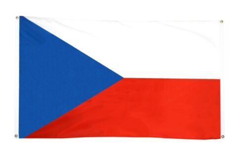 BALKONFLAGGE BALKONFAHNE Tschechische Republik Flagge Fahne für den BALKON 90x15