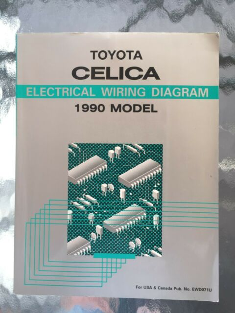 1990 Toyota Celica Electrical Wiring Diagram Repair Manual W  Cassette Radio Sup