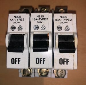 WYLEX NB40 NB30 NB15 NB05 Type 2 MCB/'s