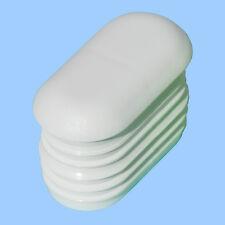 24x Endkappe Kunststoff Lamellen-Stopfen Moebelgleiter Gartenstuhl Stuhlgleiter
